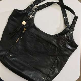(購自IT) Olivia Harris 黑色 真皮 手袋 Black Leather Handbag
