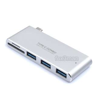 通用 TYPE C COMBO HUB USB 3.0 + SD CARD READER 支援 Macbook
