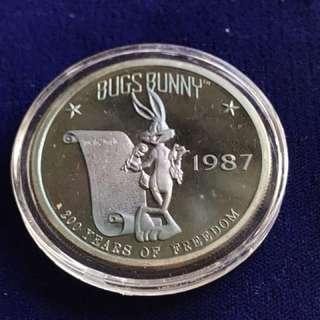 USA Warner Bros 1987 Silver Medallion