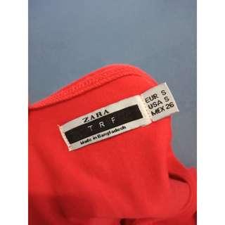 Zara solid 100% cotton t-shirt