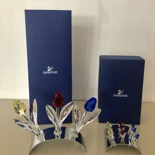 Swarovski Tulips (Blue, Red and Yellow) Large and small