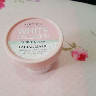 White Collagen bright and firm facial mask