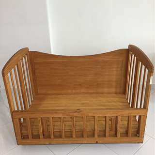 Japanese Solid wood baby cot