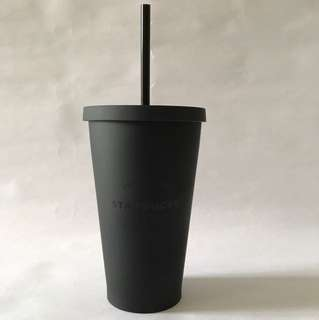 16oz/473ml Starbucks Matte Black acrylic cold tumbler