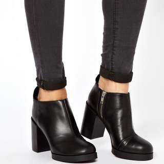 CHEAP MONDAY Leather Ankle Boots