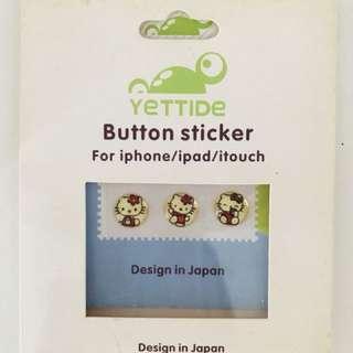 Hello Kitty button sticker