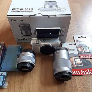 Canon EOS M10 with Dual Lens