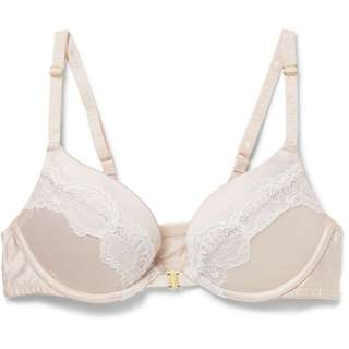Distraction lace padded push up bra