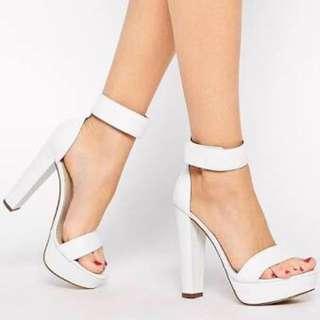 Windsor Smith White Malibu Heels