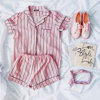 Korean Stripped Pajamas Set