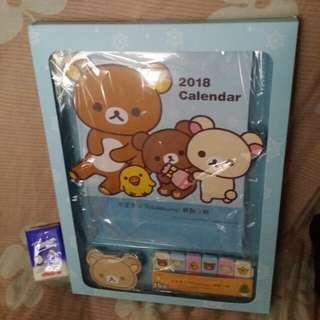 鬆弛熊 座枱月曆 連memo紙