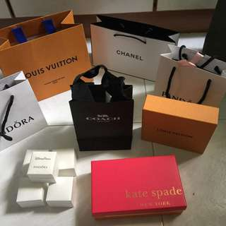 Assorted Branded Paper Bags