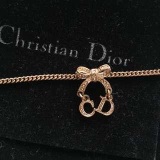 Dior玫瑰金色復古手鍊