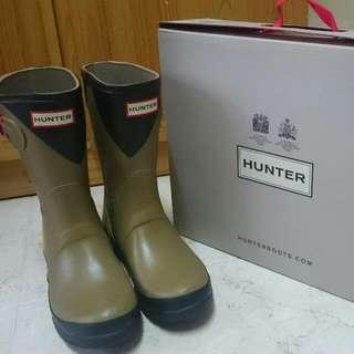 英國 Hunter 西瓜色 水靴