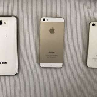 iPhone 5S, iPhone 4, Samsung Note