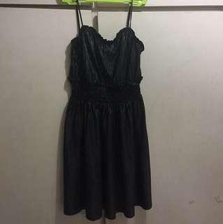 H&M shimmery little black dress