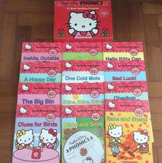 Hello kitty phonics 12 books with cd