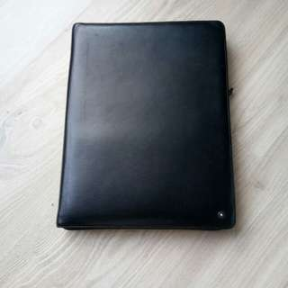 Mont blanc large sartorial black notepad with zip