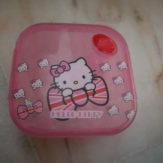 Hello Kitty Square Container with Spoon
