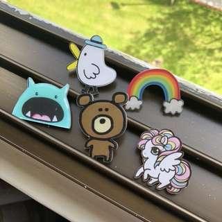 Unicorn Cartoon Badges Pins Brooches ‼️5 FREE 1‼️