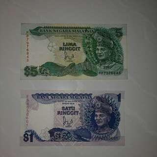 Old Malaysia Currency Notes