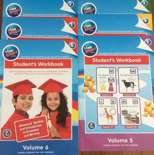 I can read student workbook 1 to 6