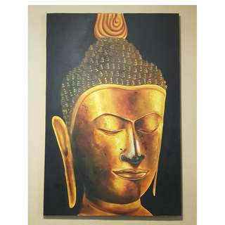 Huge Buddha Oil Painting