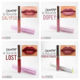Brand New Authentic Colourpop Ultra Satin Liquid Lipsticks - Various Shades!
