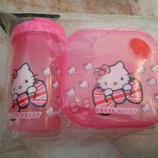 Hello Kitty Square Container & Tumbler Set