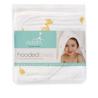 Anais & Aden giraffe hooded bath towel
