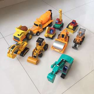 Toy construction vehicles for sale.