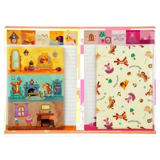 Japan Disneystore Disney Store Winnie the Pooh & Friends POOH'S HOUSE Letter Set with Clear File