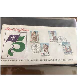 15.10.1982 First Day Cover 75th Anniversary of World Scout Movement