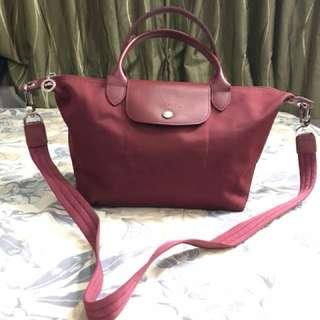 Longchamp neo marroon