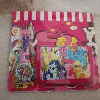 Walt Disney Little Pony Watch & Purse Gift Set