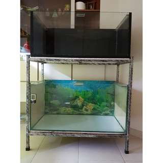 Fish Tank 3 ft with Stand