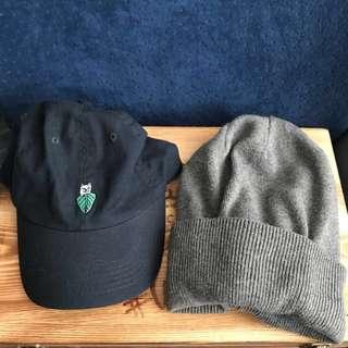 Ripndip navy cap grey beanie 冷帽