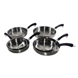 6-Piece High Quality Hangable Frying Pan with Plastic Handles