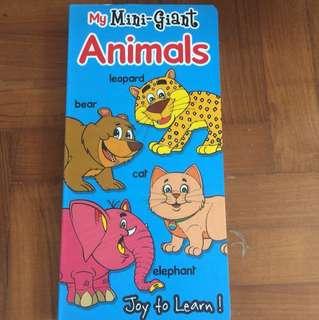 My mini giant animals hard cover book