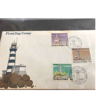 7.8.1982 First Day Cover Light houses of Singapore Special Stamp
