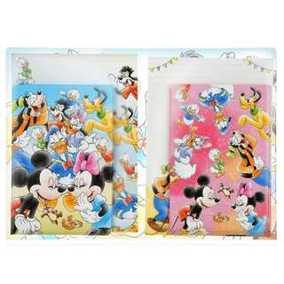 Japan Disneystore Disney Store Mickey Mouse & Friends Good Laugh Letter Set with Clear File