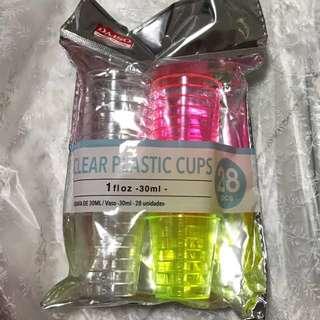 Daiso plastic cups.