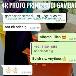 CUSTOMER FEEDBACK - 4R PHOTO PRINT / CUCI GAMBAR 4R
