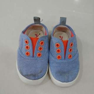 Blue sky baby shoes