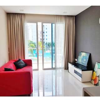 (2+1)-Tampine Condo - Waterview (2 Bedrooms) @ Tampines Ave 1 –  2 Bedrooms / Fully Furnished, All Amenities, All Races Welcome!