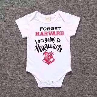 <Instock> Baby Romper-Forget Harvard, I'm going to Hogwarts