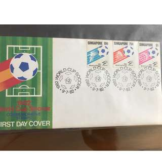 1982 World Cup Soccer Commemorative Stamps First Day Cover