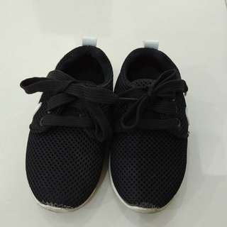 Black adid*s baby shoes