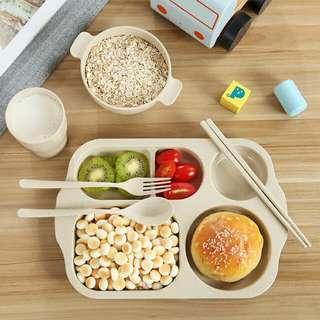 GreeNeighbour| Wheat straw children's tableware