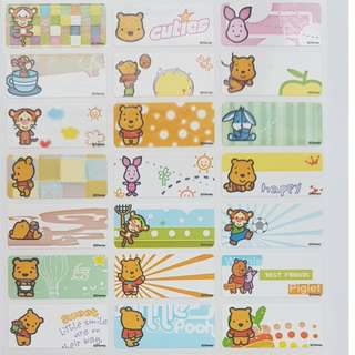 Baby Pooh Children Name Sticker Labels